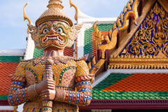 Thai god, mythical creature. Thailand Grand Palace Royalty Free Stock Photo