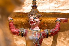 Thai god, mythical creature. Thailand Grand Palace Royalty Free Stock Images