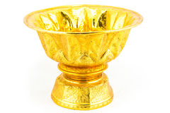 Thai gold antique tray Stock Images