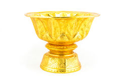 Thai gold antique tray Royalty Free Stock Images