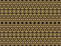 Thai gold on black vintage pattern vector abstract background Stock Photos