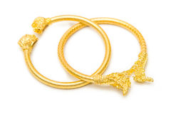 Thai gold bracelet design Royalty Free Stock Photos