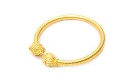 Thai gold bracelet design Stock Photography