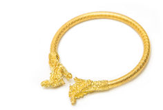 Thai gold bracelet design Royalty Free Stock Photography