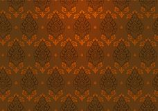 Thai gold brown vintage pattern vector abstract background with spotl. Thai gold brown luxury vintage pattern vector abstract background with spotlight Stock Photos