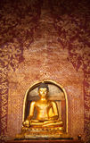 Thai Gold Buddha statues Stock Photo