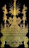Thai gold leaf art Royalty Free Stock Photos