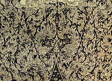 Thai gold leaf painting art Stock Photography