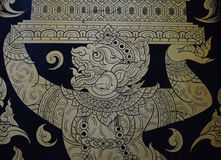 Thai gold  painting Stock Photo