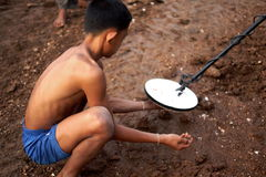 Thai gold prospector Stock Images