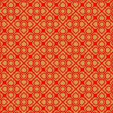 Thai gold and red flower vintage pattern Vector Illustration