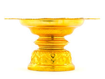 Thai Gold tray Stock Photo