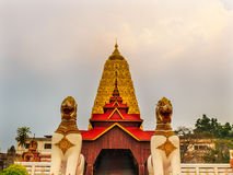 Thai golden Bodh Gaya in Sangkhlaburi. Thailand Stock Photo