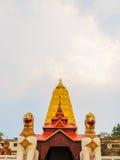 Thai golden Bodh Gaya in Sangkhlaburi. Thailand Royalty Free Stock Photo
