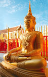 Thai golden buddha statue Stock Photography