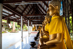 Thai golden buddha statue. In temple Royalty Free Stock Photos