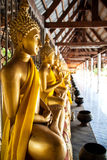 Thai golden buddha statue. In temple Stock Photography