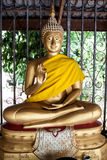 Thai golden buddha statue. In temple Royalty Free Stock Photography