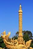 thai golden carving art Royalty Free Stock Photo