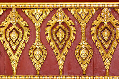 Thai Golden Carving Temple Roof Royalty Free Stock Photography