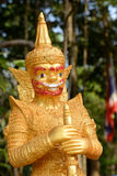 A Thai golden giant statue Royalty Free Stock Image