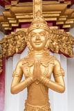 Thai golden guardian statue Royalty Free Stock Photo