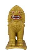 Thai golden lion statue Royalty Free Stock Photo