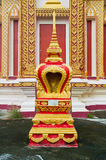 Thai golden pagoda. In the temple there are many golden pagoda Royalty Free Stock Photography
