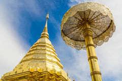 Thai Golden Pagoda. In Public Temple Stock Photography