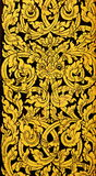 Thai golden painting art. On windows or gates Stock Photography