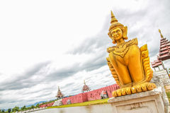 Thai golden sculpture. Near river Royalty Free Stock Images