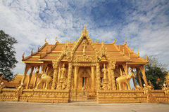 Thai Golden temple landmark Royalty Free Stock Image
