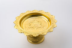 Thai golden tray with pedestal Royalty Free Stock Image