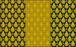 Thai golden vintage seamless pattern vector abstract background. 3 patterns royalty free illustration
