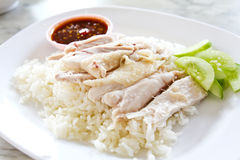 Thai gourmet steamed chicken with rice Royalty Free Stock Photography
