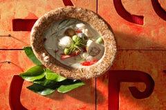 thai grön räka för curry Arkivfoton