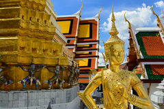 Thai Grand Palace. The Grand Palace, Bangkok, Thailand, known as Phra Kaeo the palace houses the emerald Buddha and the Reclinging Buddha Stock Photo