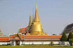 Thai grand palace pagodas Stock Image