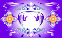 Thai graphics. Stripes pattern with the color of line thai graphics Thailand Thailand Thailand purple decorated master pattern Stock Photos