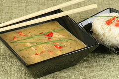 Thai green chicken curry Royalty Free Stock Photography