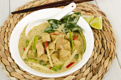 Thai Green Chicken Curry Royalty Free Stock Images