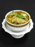 Thai green curry with chicken Royalty Free Stock Images