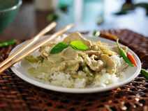 Thai green curry with chicken Stock Photography