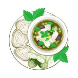Thai Green Curry with Thai Rice Vermicelli Stock Image
