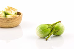 Thai green eggplant. Royalty Free Stock Images