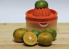 Thai green orange fruits Royalty Free Stock Image