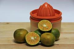 Thai green orange fruits Royalty Free Stock Photo