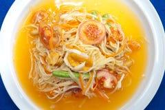 Thai Green Papaya Salad Royalty Free Stock Photos