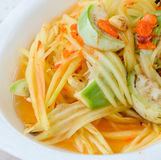 Thai green papaya salad Stock Photography