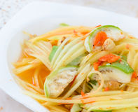 Thai green papaya salad Stock Image